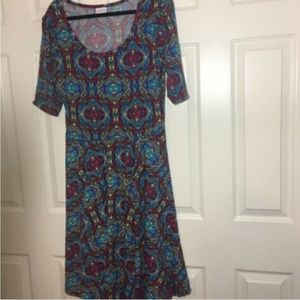 LuLaRoe Dresses - LulaRoe Nicole Dress XL (18-20) R, Blu, Ylw Geomet